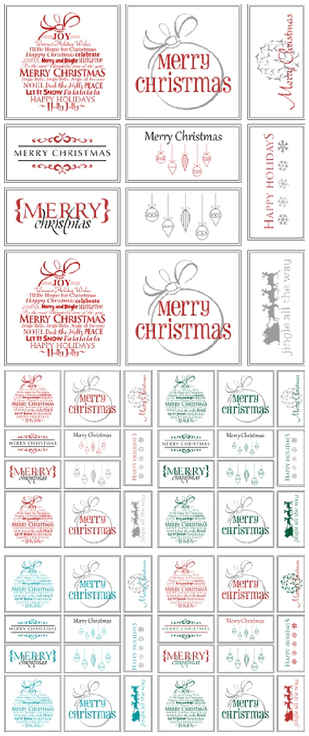 picture about Printable Christmas Tag identified as The Suitable Totally free Xmas Printables Present Tags, Trip