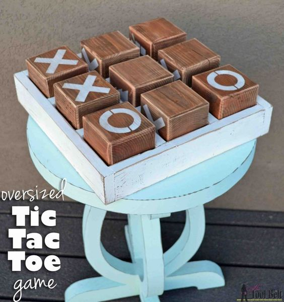 The best do it yourself gifts fun clever and unique diy craft build a fun diy tic tac toe game out of simple lumber keep it traditional solutioingenieria Gallery