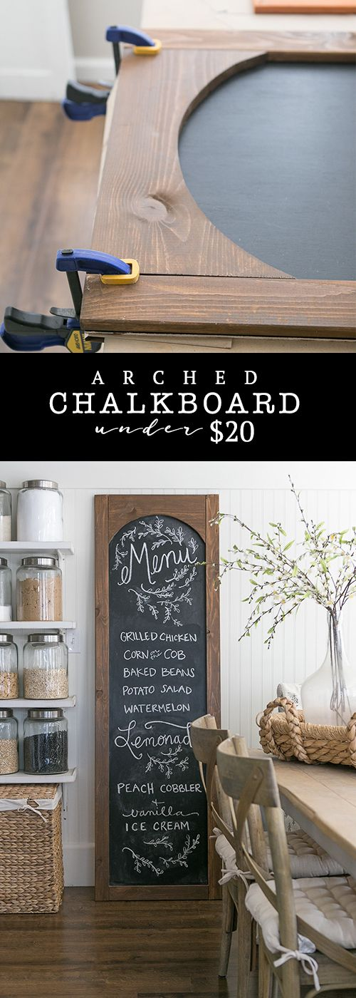 The best do it yourself gifts fun clever and unique diy craft perfect for your friends who love to entertain easy diy arched chalkboard menu tutorial solutioingenieria