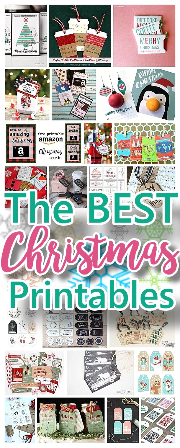 the best christmas and holiday free printables gift tags gift card holders christmas