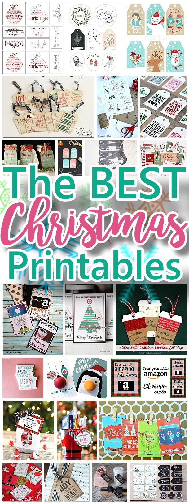 The BEST FREE Christmas Printables – Gift Tags, Holiday Greeting Cards, Gift Card Holders and more fun downloadable paper craft winter freebies!