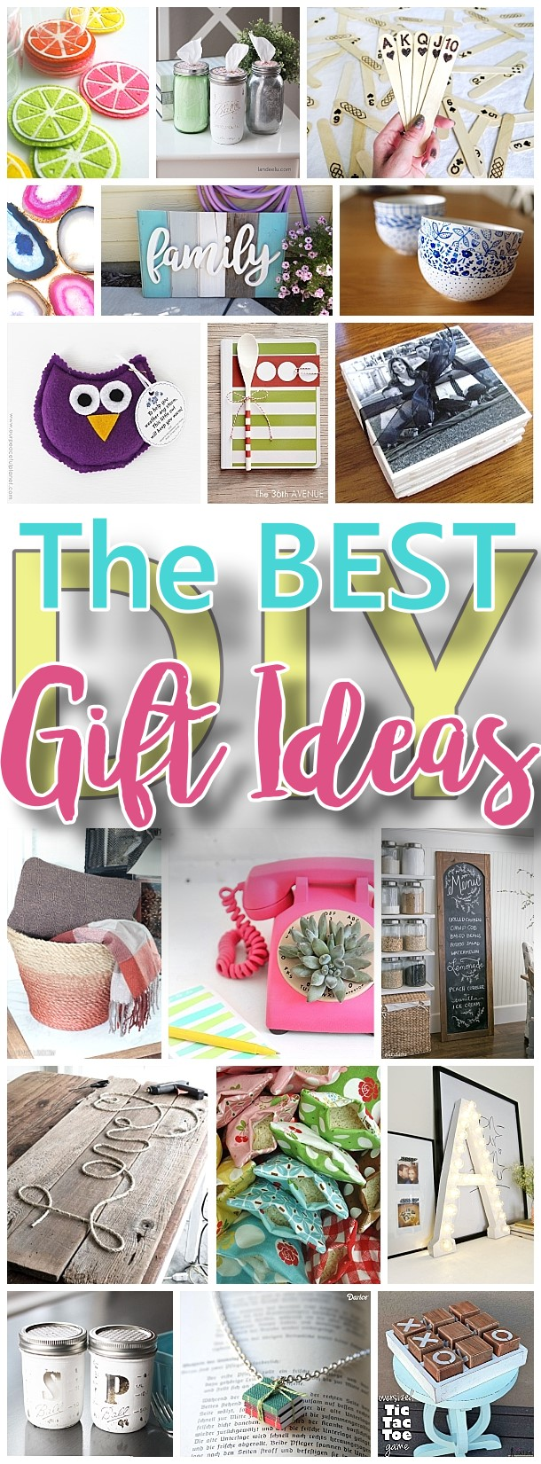 The BEST Do it Yourself Gifts – Fun, Clever and Unique DIY Craft Projects and Ideas for Christmas, Birthdays, Thank You or Any Occasion via Dreaming in DIY