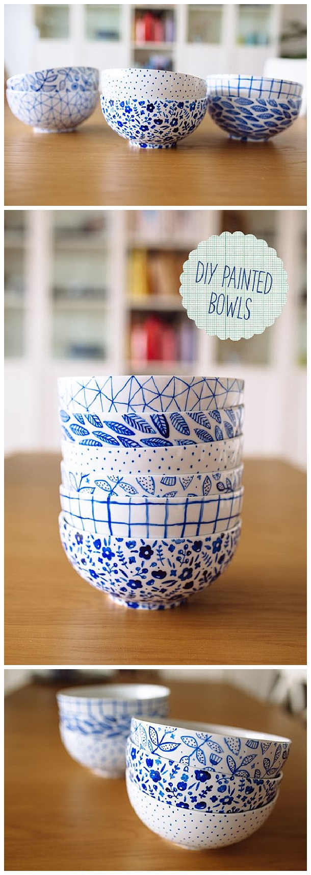 These would make the prettiest gifts - fill them with homemade baked treats! DIY Painted Bowls Tutorial | fellowfellow #diygifts #handmadegifts #diygiftideas #giftstomake #christmasgifts #giftsforher #giftideas