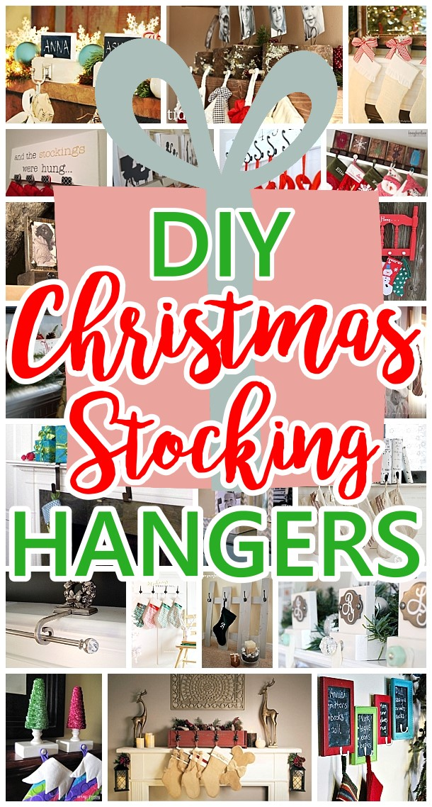 Cheap and Easy Do it Yourself Christmas Stocking Hangers and Clever Ideas and Ways to Display Stockings even without a mantel for the holidays! Dreaming in DIY
