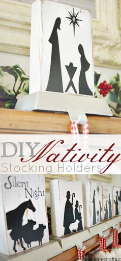 DIY Nativity Scene Stocking Holders via U Create
