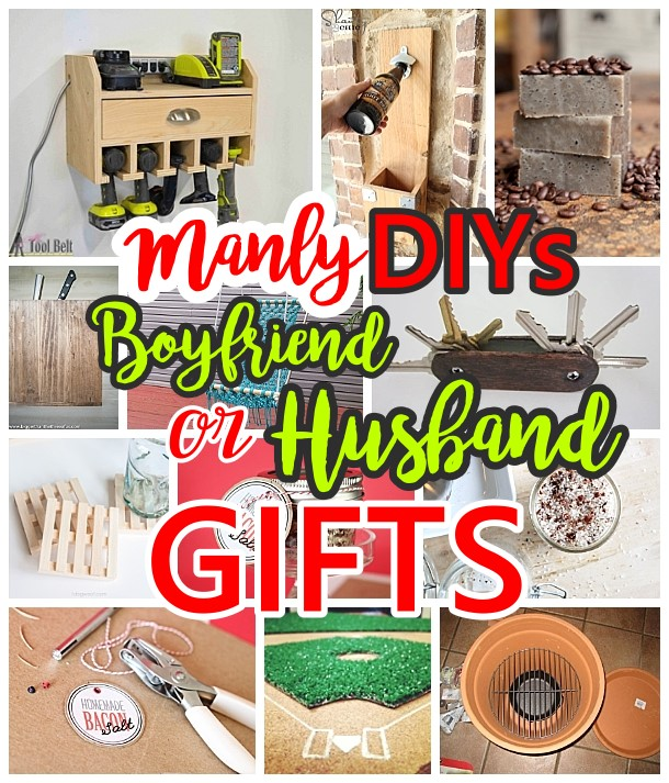 Do it Yourself Manly Gift Ideas for Boyfriends, Husbands Sons, Brothers, Uncles, Cousins or any guy on your gift list! - DIY Christmas, Birthdays, Fathers Day, Graduation Presents or Anytime - Dreaming in DIY #giftsformen #giftsforhim #giftsforboys #diygiftsformen #diygiftsforhim #diygiftsforboys #boyfriendgifts #husbandgifts #birthdaygiftsforhim #diybirthdaygiftsforhim