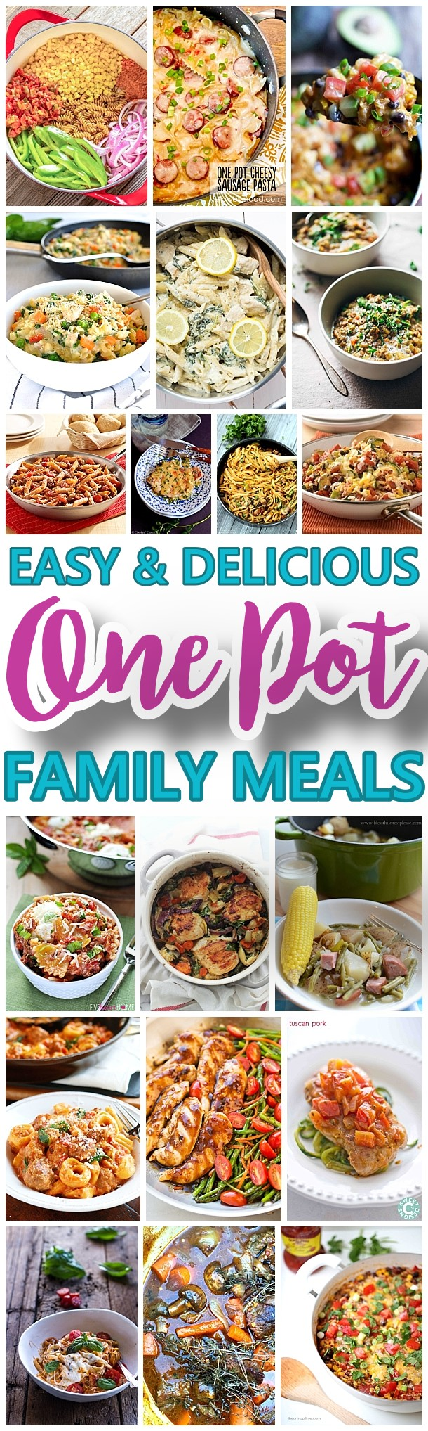 The BEST Easy and Delicious ONE POT Recipes - We've got BEEF, CHICKEN, PORK and VEGETABLE options - something for everyone! Make amazing lunch and dinner meals for your family with less cleanup! Perfect for busy weeknights or anytime you want to make a quick and hearty homemade meal recipe using just ONE pan. - Dreaming in DIY