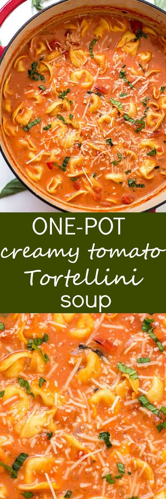 One-Pot Creamy Tomato Tortellini Soup Recipe | Gal on a Mission - The BEST Homemade Soups Recipes - Easy, Quick and Yummy Lunch and Dinner Family Favorites Meals Ideas #soup #souprecipes #homemadesoup #soups #easysouprecipes #easyrecipes #lunchrecipes #fallrecipes #winterrecipes