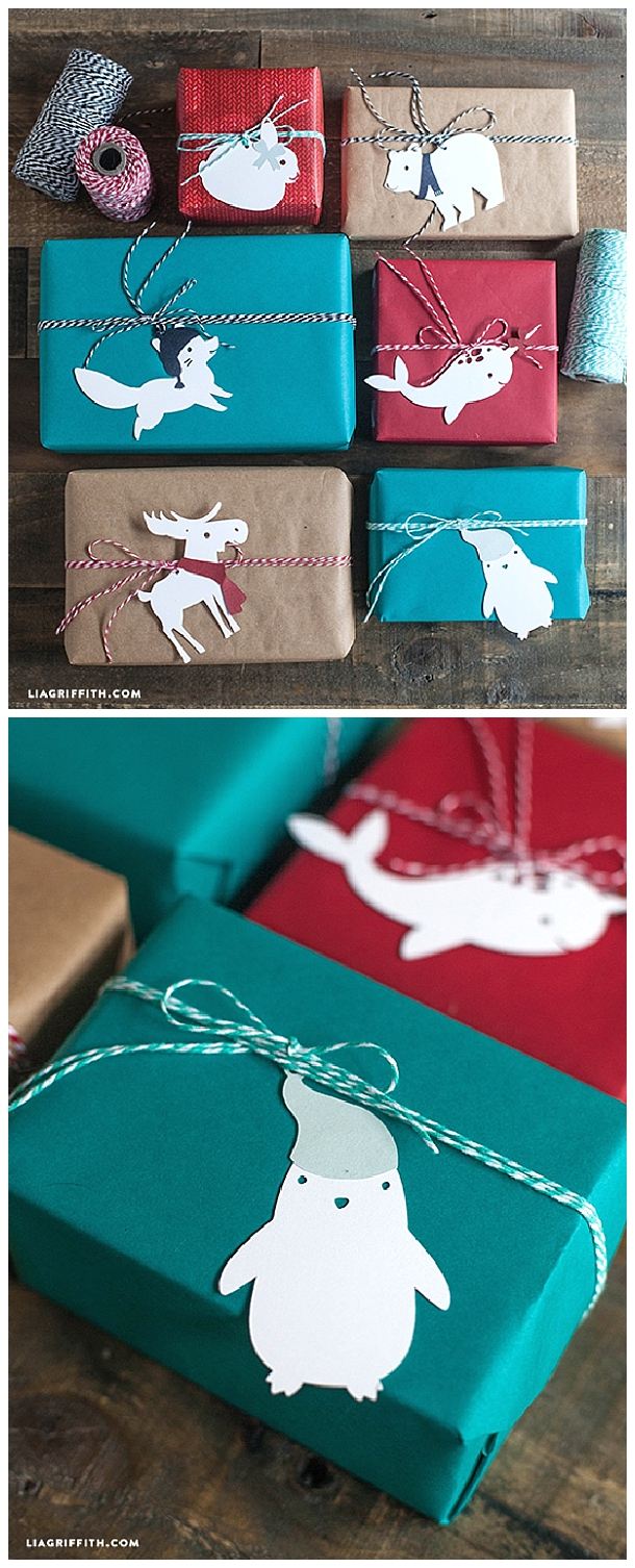 SO cute! Paper Animal Gift Toppers or Tree Decorations - Download the Printables via Lia Griffith - The BEST DIY Gift Toppers - Pretty and EASY Inexpensive Handmade Ideas for Christmas, Birthdays, Holidays and any special occasion! #diygifttoppers #DIYGiftwrapping #diygiftwrap #gifttoppers #christmasgifttoppers #diychristmasgifttoppers #birthdaygifttoppers #diychristmasbows