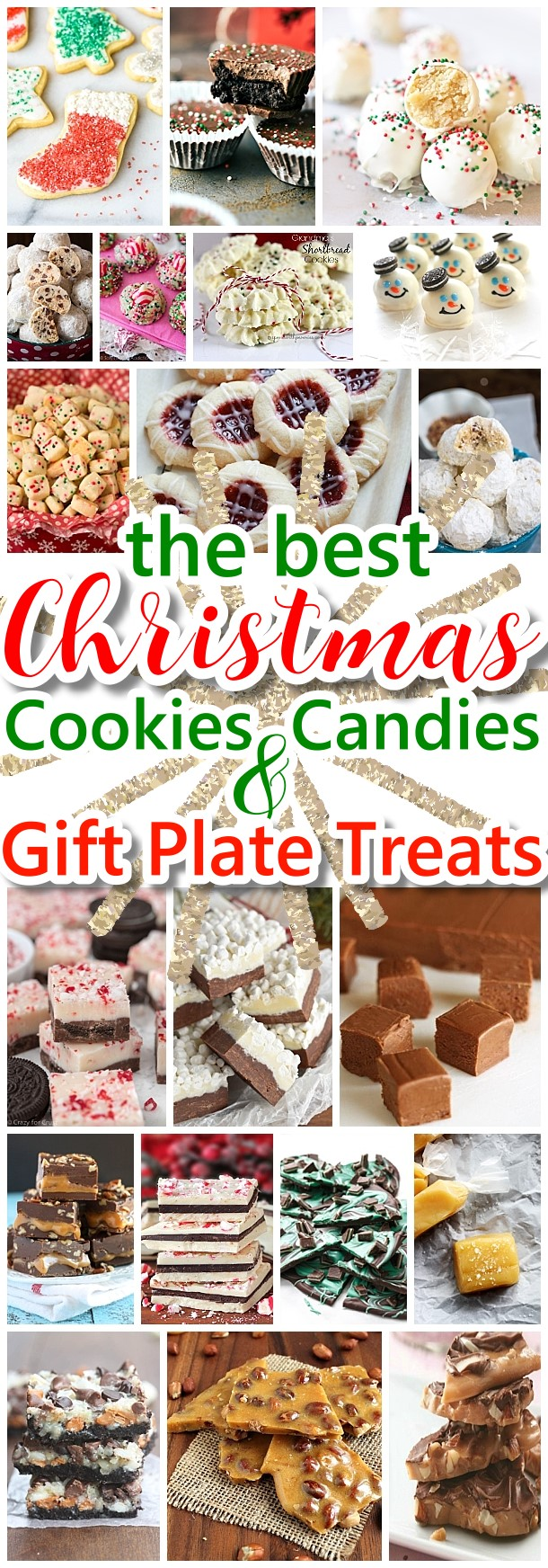 The BEST Christmas Cookies, Fudge, Candy, Barks and Brittles Recipes - Favorites for Holiday Treats Gift Plates and Goodies Bags! - Dreaming in DIY #chrstmascookies #christmascandy #christmastreats #holidaydesserts #holidayrecipes #christmascandies #holidaygiftplates