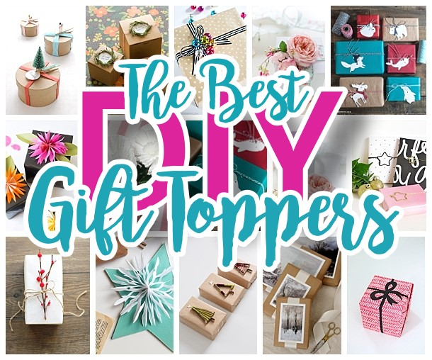 The BEST DIY Gift Toppers - pretty handmade EASY gift wrapping ideas for Christmas Birthdays Holidays and more! #diygifttoppers #DIYGiftwrapping #diygiftwrap #gifttoppers #christmasgifttoppers #diychristmasgifttoppers #birthdaygifttoppers #diychristmasbows