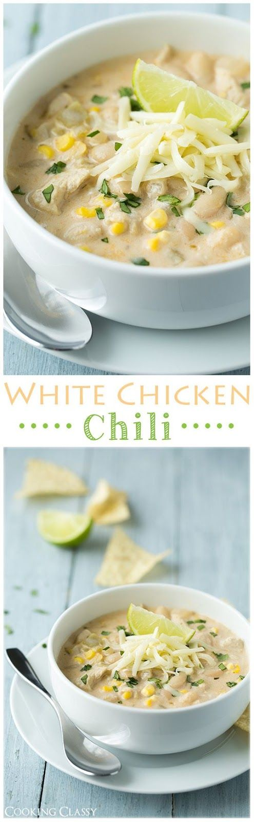 White Chicken Chili Soup Recipe | Cooking Classy - The BEST Homemade Soups Recipes - Easy, Quick and Yummy Lunch and Dinner Family Favorites Meals Ideas #soup #souprecipes #homemadesoup #soups #easysouprecipes #easyrecipes #lunchrecipes #fallrecipes #winterrecipes