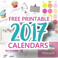 The BEST FREE Printable Calendars for 2017 Organization and Planning! The prettiest color schemes and designs with various sizes to fit any decor! - Dreaming in DIY