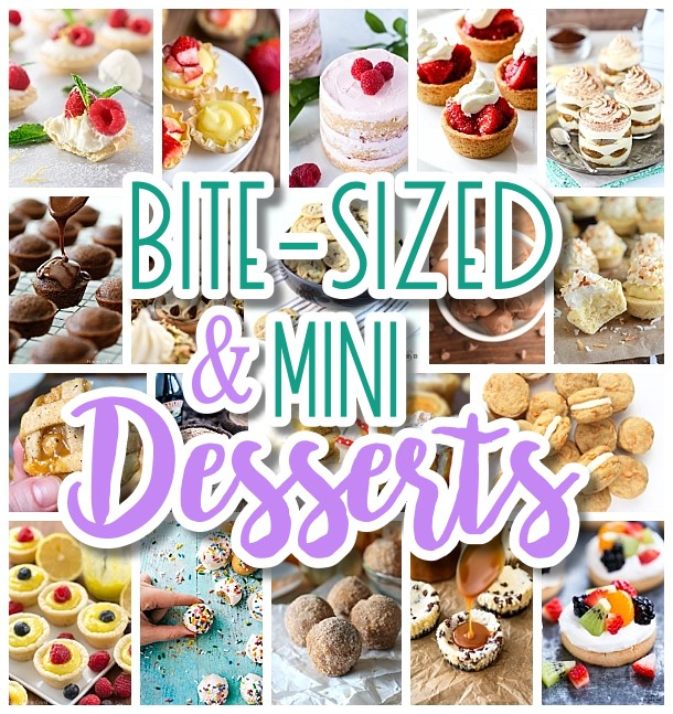 The BEST Bite Size Dessert Recipes - Mini, Individual, Yummy Treats, Perfectly Pretty for Your Baby and Bridal Showers, Birthday Party Dessert Tables and Holiday Celebrations! Dreaming in DIY