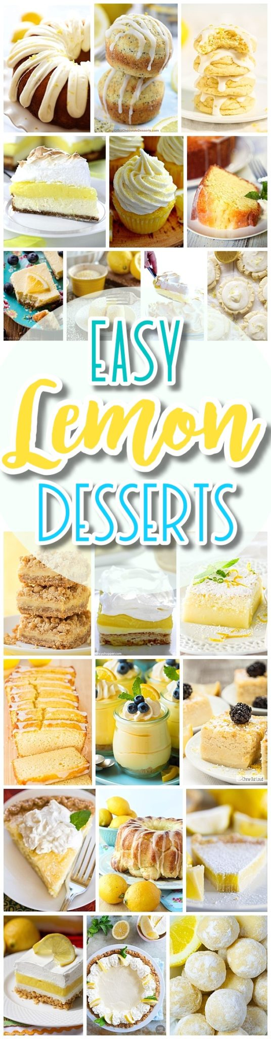 The BEST Easy Lemon Desserts and Treats Recipes - Perfect For Easter, Mother's Day Brunch, Bridal or Baby Showers and Pretty Spring and Summer Holiday Party Refreshments - Dreaming in DIY #simplelemonrecipes #simplelemondesserts #simplerecipes