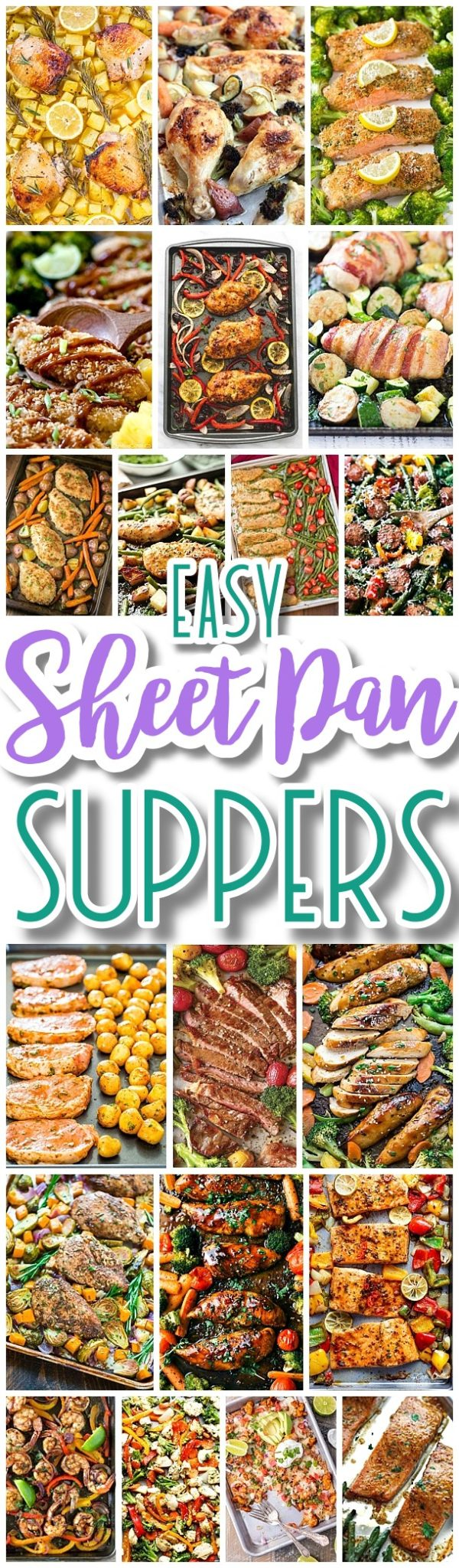 The BEST Sheet Pan Suppers Recipes - Easy and Quick Family Lunch and Simple Dinner Meal Ideas using ONE baking PAN - Dreaming in DIY #sheetpansuppers #sheetpanrecipes #sheetpandinners #onepanmeals #healthyrecipes #mealprep #easyrecipes #healthydinners #healthysuppers #healthylunches #simplefamilymeals #simplefamilyrecipes #simplerecipes