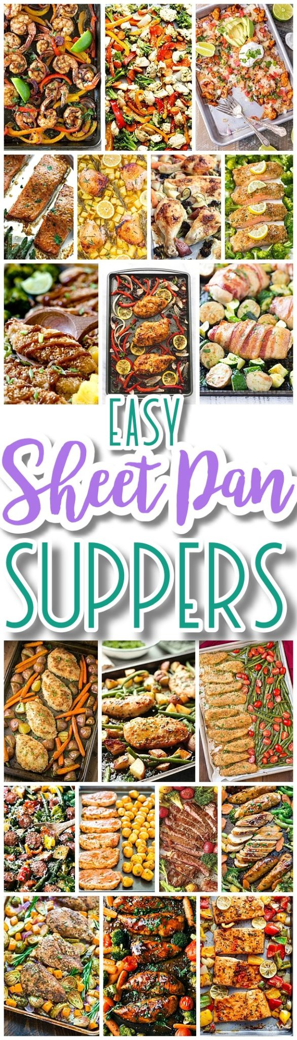 The BEST Sheet Pan Suppers Recipes - Easy and Quick Family Lunch and Simple Dinner Meal Ideas using only ONE baking SHEET PAN - Dreaming in DIY #sheetpansuppers #sheetpanrecipes #sheetpandinners #onepanmeals #healthyrecipes #mealprep #easyrecipes #healthydinners #healthysuppers #healthylunches #simplefamilymeals #simplefamilyrecipes #simplerecipes