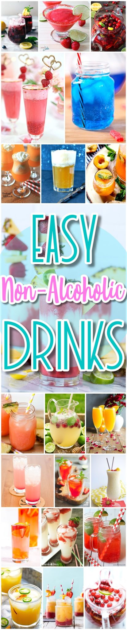 The BEST Easy Non-Alcoholic Drinks Recipes - Creative Mocktails and Family Friendly, Alcohol-Free, Big Batch Party Beverages for a Crowd! - Dreaming in DIY #mocktails #virgindrinks #alcoholfreedrinks #nonalcoholicdrinks #familyfriendlydrinks #partypunch #partydrinks #newyearseve #partydrinkrecipes
