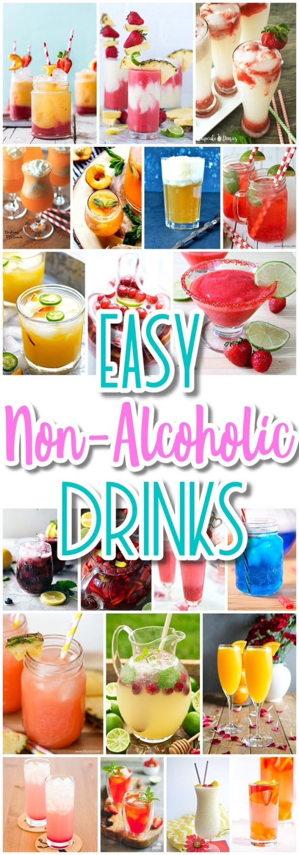The best easy non alcoholic drinks recipes creative for Vodka mixed drink recipes simple