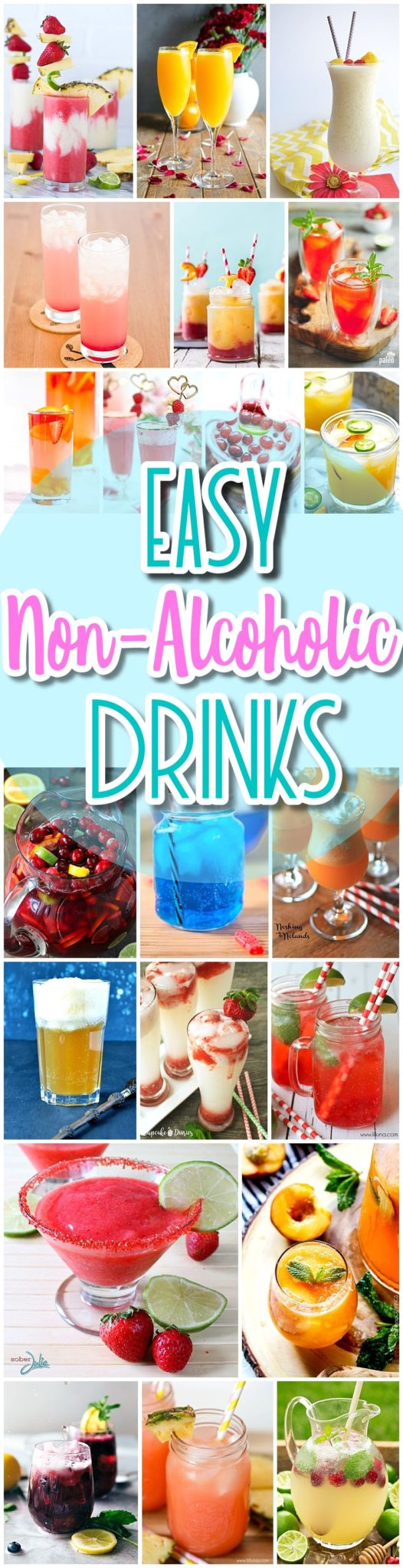 The best easy non alcoholic drinks recipes creative for Best mixed drinks for a party
