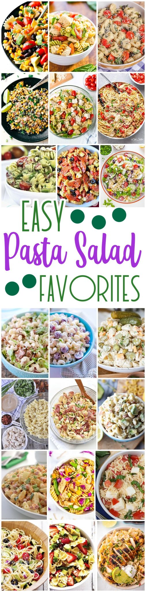 Easy Pasta Salad Recipes - The BEST Yummy Barbecue Side Dishes, Potluck Favorites and Summer Dinner Party Crowd Pleasers- Dreaming in DIY #pastasaladrecipes #pastasalads #pastasalad #easypastasalad #potluckrecipes #potluck #partyfood #4thofJuly #picnicfood #sidedishrecipes #easysidedishes #cookoutfood #barbecuefood #blockparty