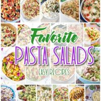 Easy Pasta Salad Recipes - The BEST Yummy Side Dishes for Barbecues, Potlucks and Summer Dinner Parties - Crowd Pleasing Favorites - Dreaming in DIY