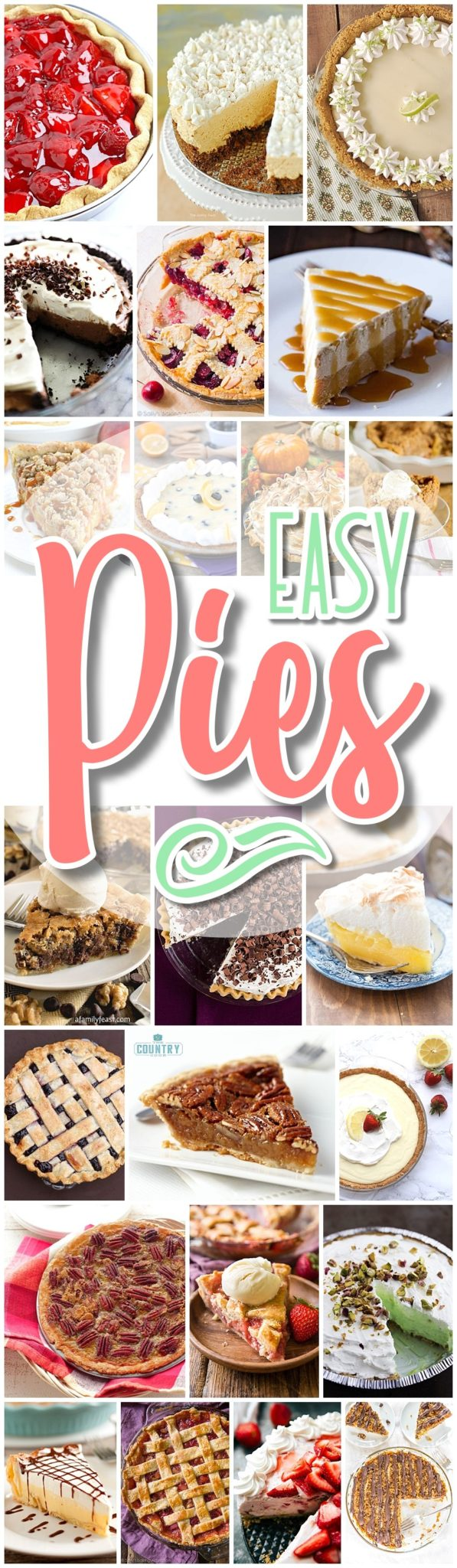 Favorite EASY Pies Recipes - Brunch Dessert No-Bake + Bake Musts Party Treats - Dreaming in DIY - The BEST Easy DIY Mother's Day Gifts and Treats Ideas - Holiday Craft Activity Projects, Free Printables and Favorite Brunch Desserts Recipes for Moms and Grandmas