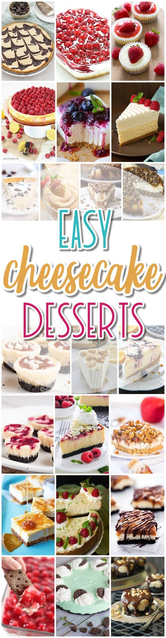The BEST Cheesecake Recipes - Favorite Easy Party Desserts for Easter, Mother's Day Brunch or any celebration - Dreaming in DIY #cheesecake #desserts #cheesecakerecipes #holidayfood #easycheesecakerecipes #simplecheesecake #cheesecakes #easterdesserts #mothersdaydesserts #brunchrecipes #holidaydesserts #easydesserts