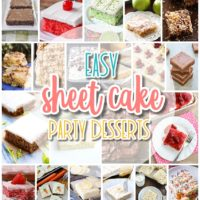 The Best EASY Sheet Cakes Recipes - Simple and Quick Party Crowds Desserts for Holidays and Family Celebrations - Dreaming in DIY