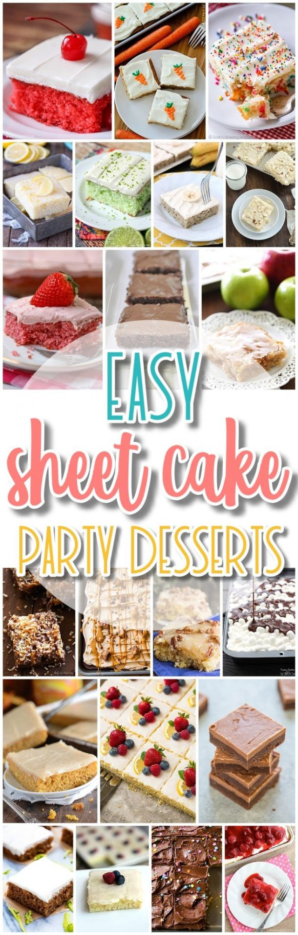 The Best EASY Sheet Cakes Recipes - Simple and Quick Party Crowds Desserts for Holidays, Special Occasions and Family Celebrations - Dreaming in DIY #sheetcakerecipes #sheetcake #sheetcakes #cakerecipes #cakes #dessertforacrowd #partydesserts #christmasdesserts #thanksgivingdesserts #newyearseve #birthdaydesserts