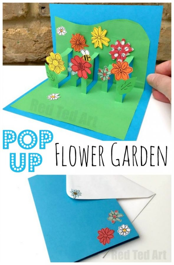 Adorable DIY Pop Up Flower Garden Mother's Day Card via Red Ted Art – What a fun kids paper craft gift to make for Grandma or Mommy this year! The BEST Easy DIY Mother's Day Gifts and Treats Ideas – Holiday Craft Activity Projects, Free Printables and Favorite Brunch Desserts Recipes for Moms and Grandmas #mothersdaygifts #mothersdaygiftideas #diymothersday #diymothersdaygifts #giftsformom #giftsforgrandma