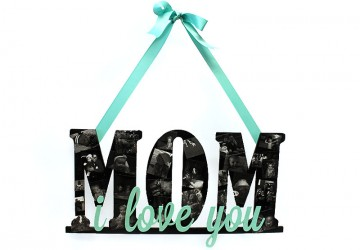 How To: Make a DIY Mother's Day Word Art Photo Collage Gift via Craft Cuts - The BEST Easy DIY Mother's Day Gifts and Treats Ideas - Holiday Craft Activity Projects, Free Printables and Favorite Brunch Desserts Recipes for Moms and Grandmas