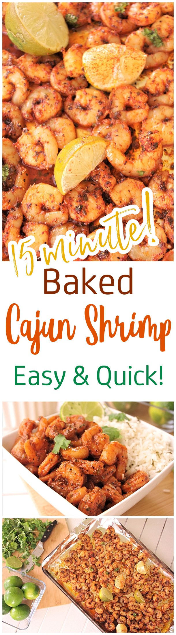 Baked Sheet Pan Cajun Shrimp Entree Recipe - 15 minutes and so delicious! Use it in tacos, meal prep bowls, or over rice or noodles. So versatile and the flavor is so yummy you'll want to eat the entire pan by itself! - Dreaming in DIY #30minutecajunshrimp #cajunshrimp #sheetpanshrimp #shrimprecipes #easyshrimprecipes #quickshrimprecipe #seafood #baked #onepanmeals #fastrecipes #lunchrecipes #dinnerrecipes #healthyquickrecipes #quickandeasyrecipes
