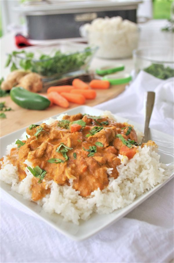 The Best Easy Coconut Curry Crock Pot Chicken Family Dinner Recipe