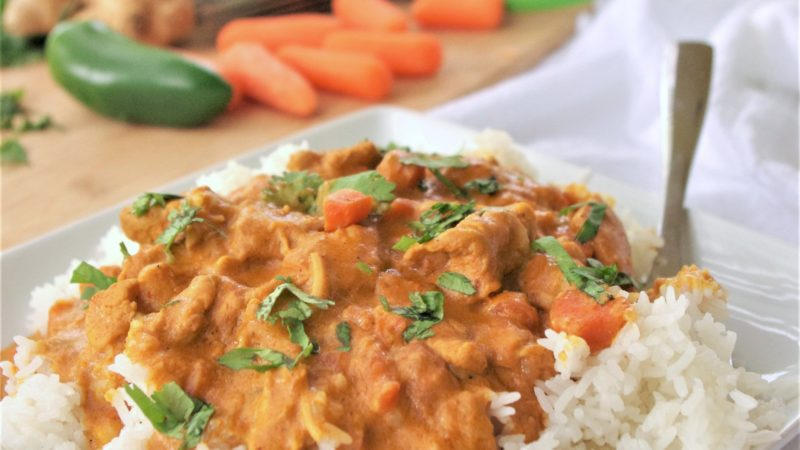 The BEST Coconut Curry Crockpot Chicken Family Dinner Recipe - Yummy Easy Slow Cooker Meal by Dreaming in DIY