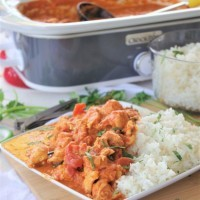 Crock Pot Chicken Tikki Masala Easy Supper Recipe via Dreaming in DIY