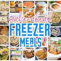 Make Ahead Freezer Meals Recipes - Quick and Easy Family Meal Prep Solutions - Save time and money by cooking and planning ahead! Dreaming in DIY