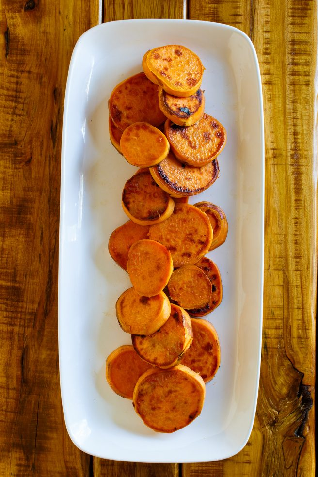 Maple Pecan Melting Sweet Potatoes Side Dish Recipe perfect for Thanksgiving and Christmas Dinner via Dreaming in DIY