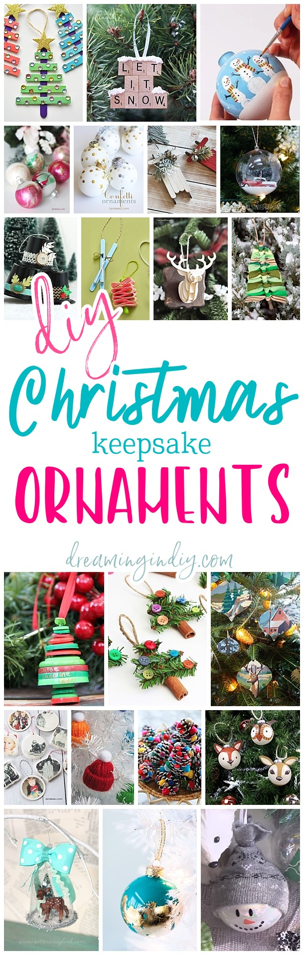 The Best Diy Christmas Tree Ornaments To Make Easy Handmade Holiday Keepsakes Dreaming In Diy