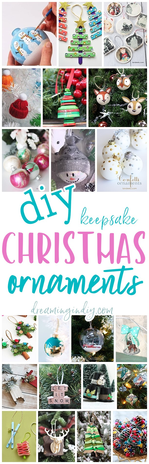 The Best DIY Christmas Tree Ornaments to Make - Easy Handmade Holiday Keepsakes for all ages to make via Dreaming in DIY #diychristmasornaments #diyornaments #keepsakeornaments #handmadeornaments #christmascrafts #christmasornaments