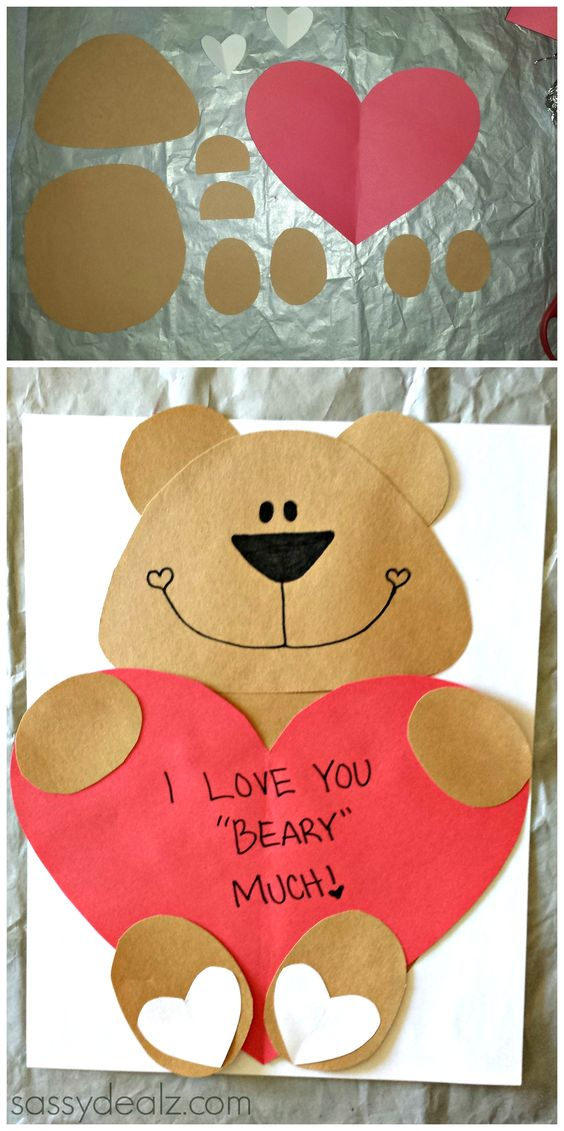 Valentine Kid Craft Ideas Part - 27: I Love You Beary Much Valentine Craft For Kids | Crafty Morning - Fun And  Easy
