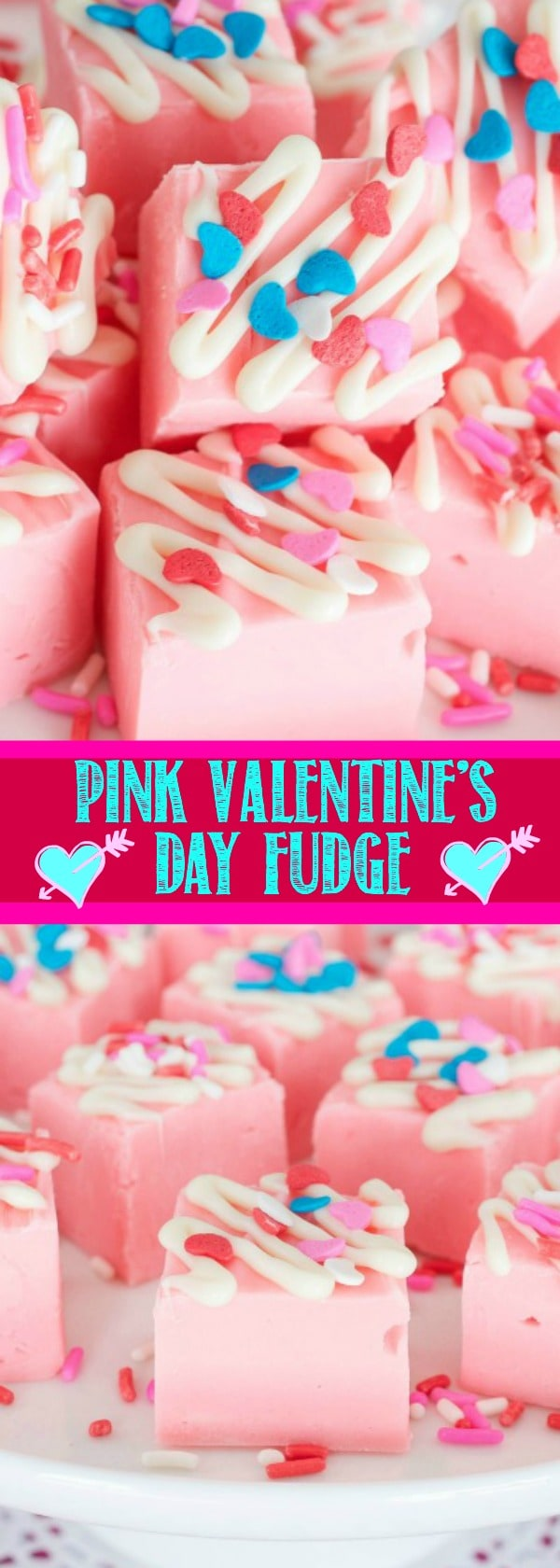 Pink Valentine's Day Fudge | Back For Seconds - Easy Valentine's Day Dessert Recipes - Pink and Red Party Treats #valentinesdaydesserts #easyvalentinesdaydesserts #valentinesdaytreats #pinkandred #pinkdesserts #reddesserts #valentinesdayparty #valentinesday