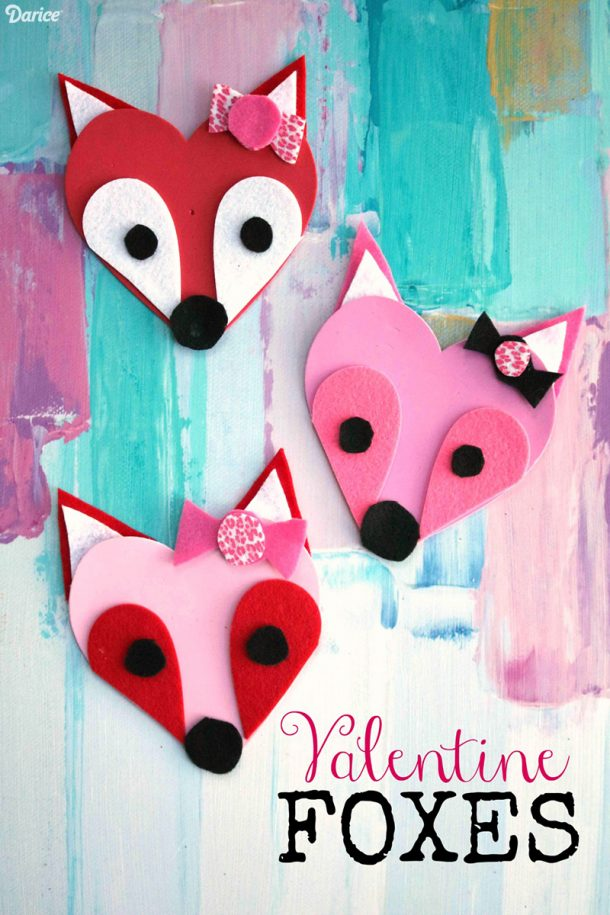 Fun and easy valentine s day kids crafts simple pink for Valentines day art and crafts for preschoolers