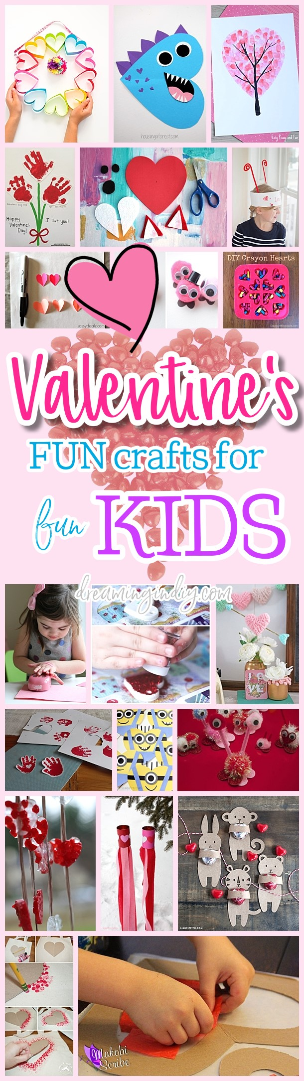 Fun And Easy Valentine S Day Kids Crafts Simple Pink Love
