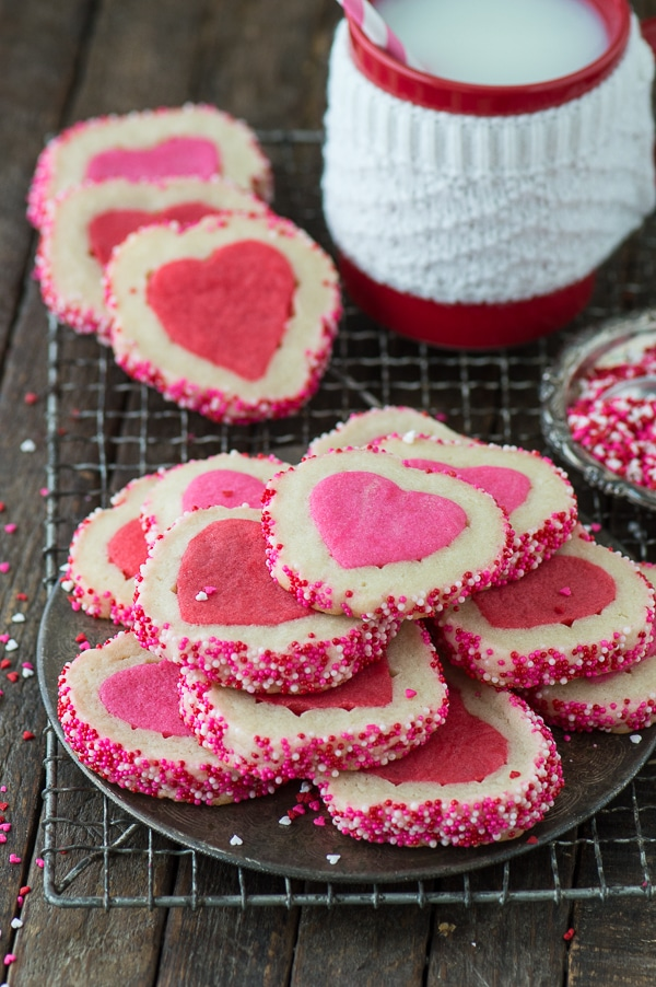 Valentine's Day Slice N' Bake Cookies Recipe | The First Year Blog - Easy Valentine's Day Dessert Recipes - Pink and Red Party Treats #valentinesdaydesserts #easyvalentinesdaydesserts #valentinesdaytreats #pinkandred #pinkdesserts #reddesserts #valentinesdayparty #valentinesday #heartshapedtreats #hearts #love