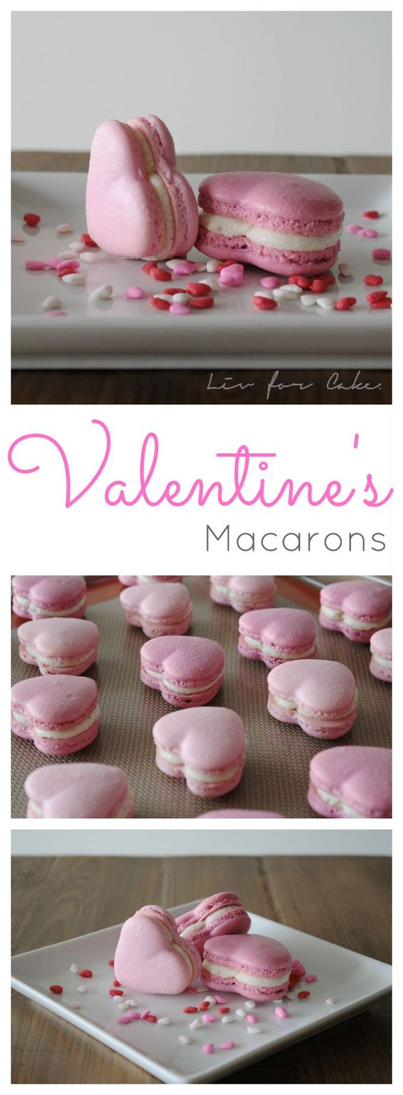 Valentine's Macarons | Liv for Cake - Easy Valentine's Day Dessert Recipes - Pink and Red Party Treats #valentinesdaydesserts #easyvalentinesdaydesserts #valentinesdaytreats #pinkandred #pinkdesserts #reddesserts #valentinesdayparty #valentinesday #heartshapedtreats #hearts #love
